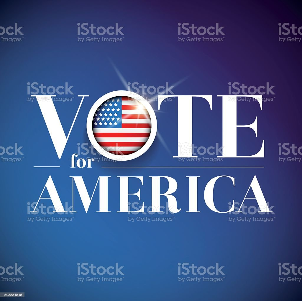 Vote for America - election poster vector art illustration