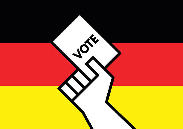 vote for german election - kanzlerin stock-grafiken, -clipart, -cartoons und -symbole