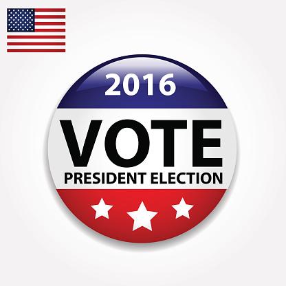 Vote for president button.