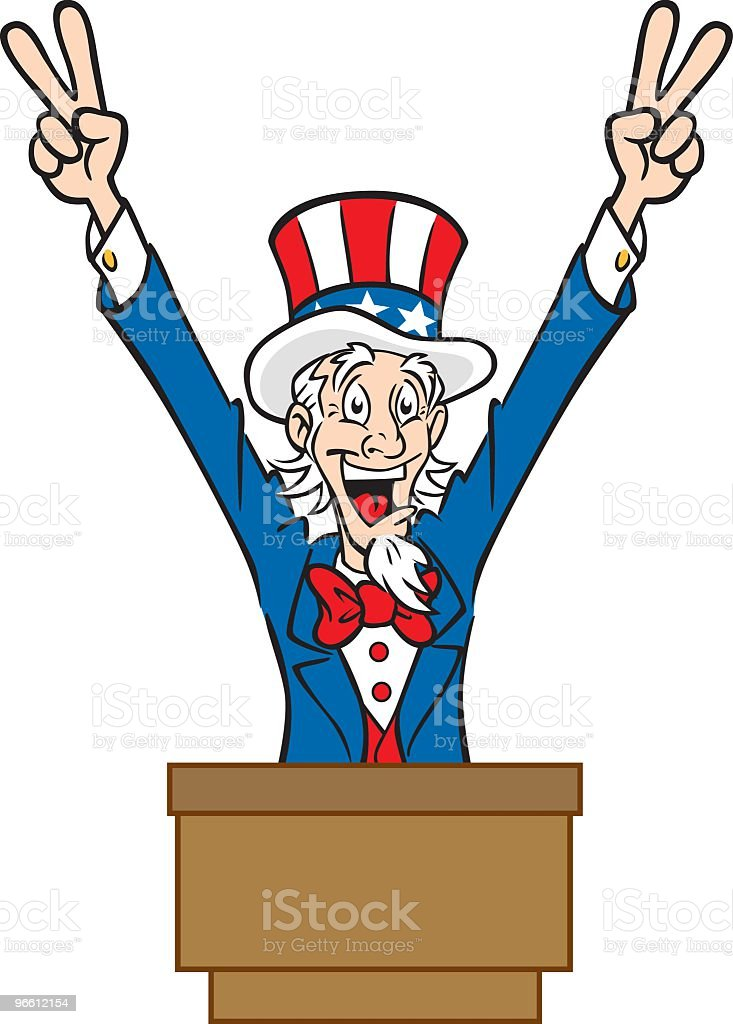 Vote for Uncle Sam - Royalty-free Adult stock vector