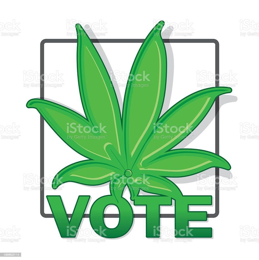 Vote for Weed vector art illustration