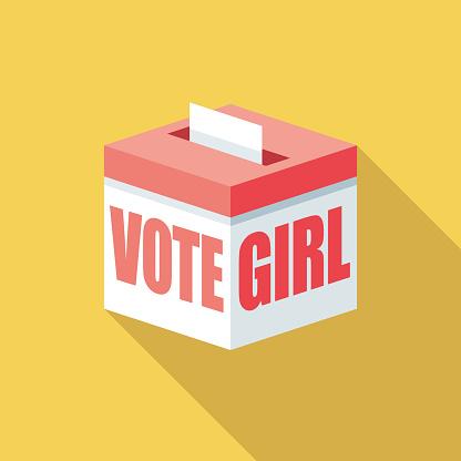 Vote Girl Gender Reveal Icon