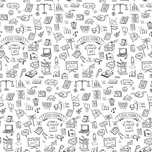 Vote icons set vector art illustration