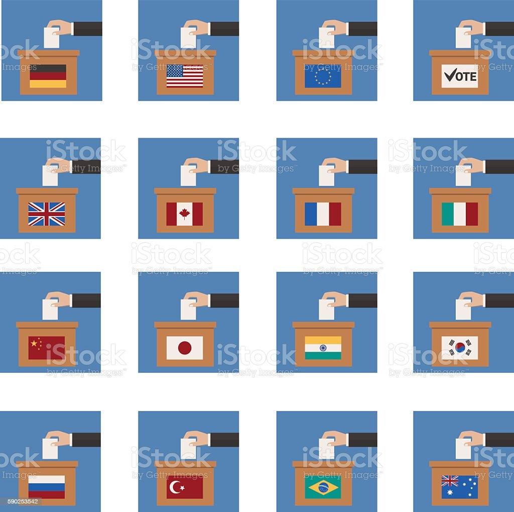 Vote icons - vector icon set vector art illustration