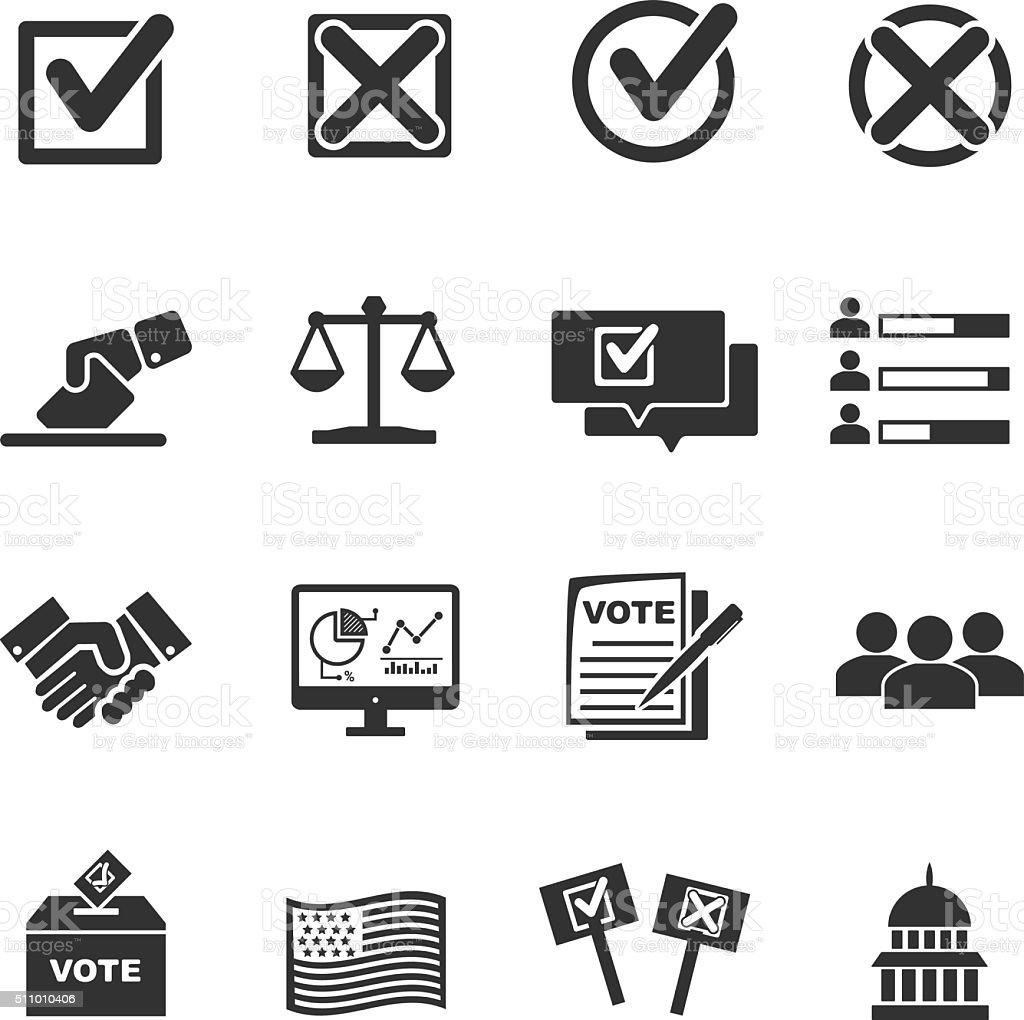 Vote icons vector art illustration