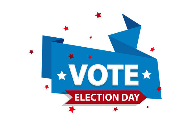 2020 abd'de oy amerikan başkanı afiş - election stock illustrations