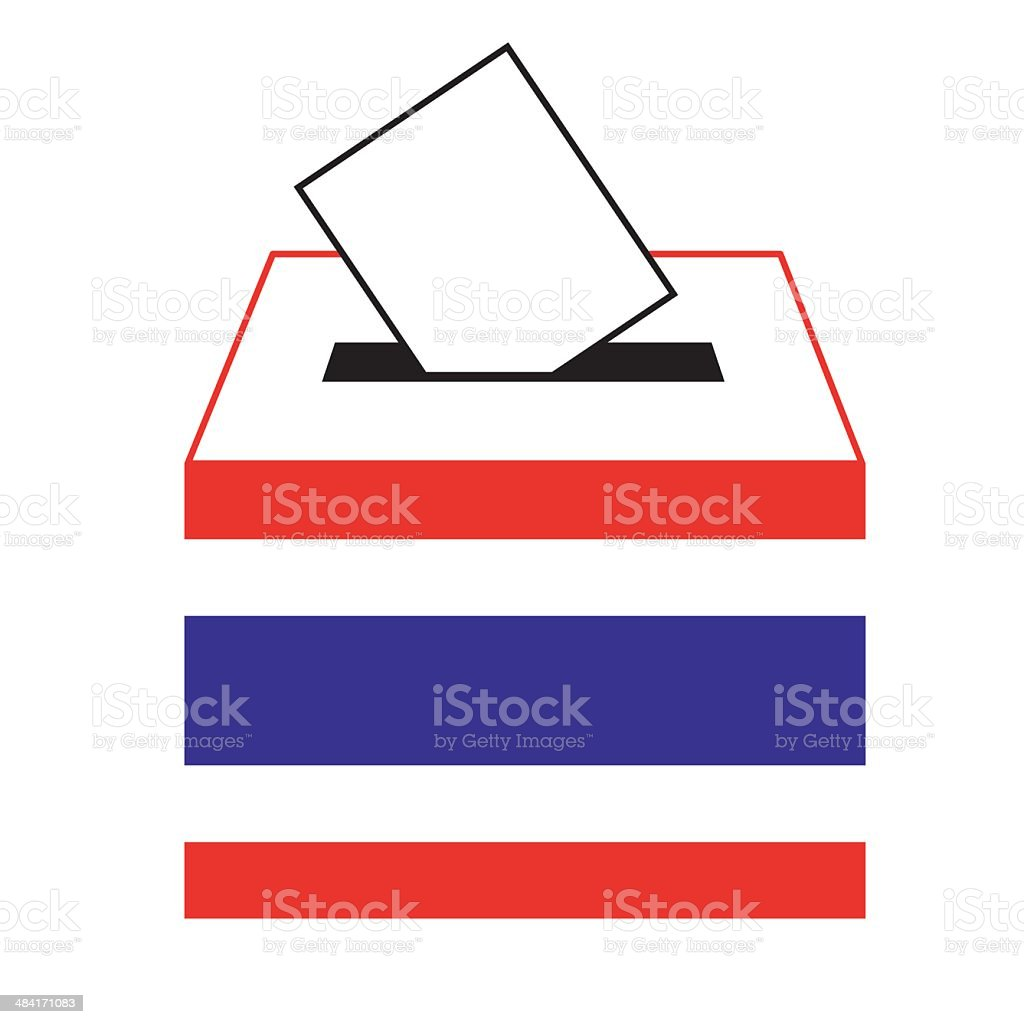 vote label in a slot of box, Vector, Illustration royalty-free stock vector art