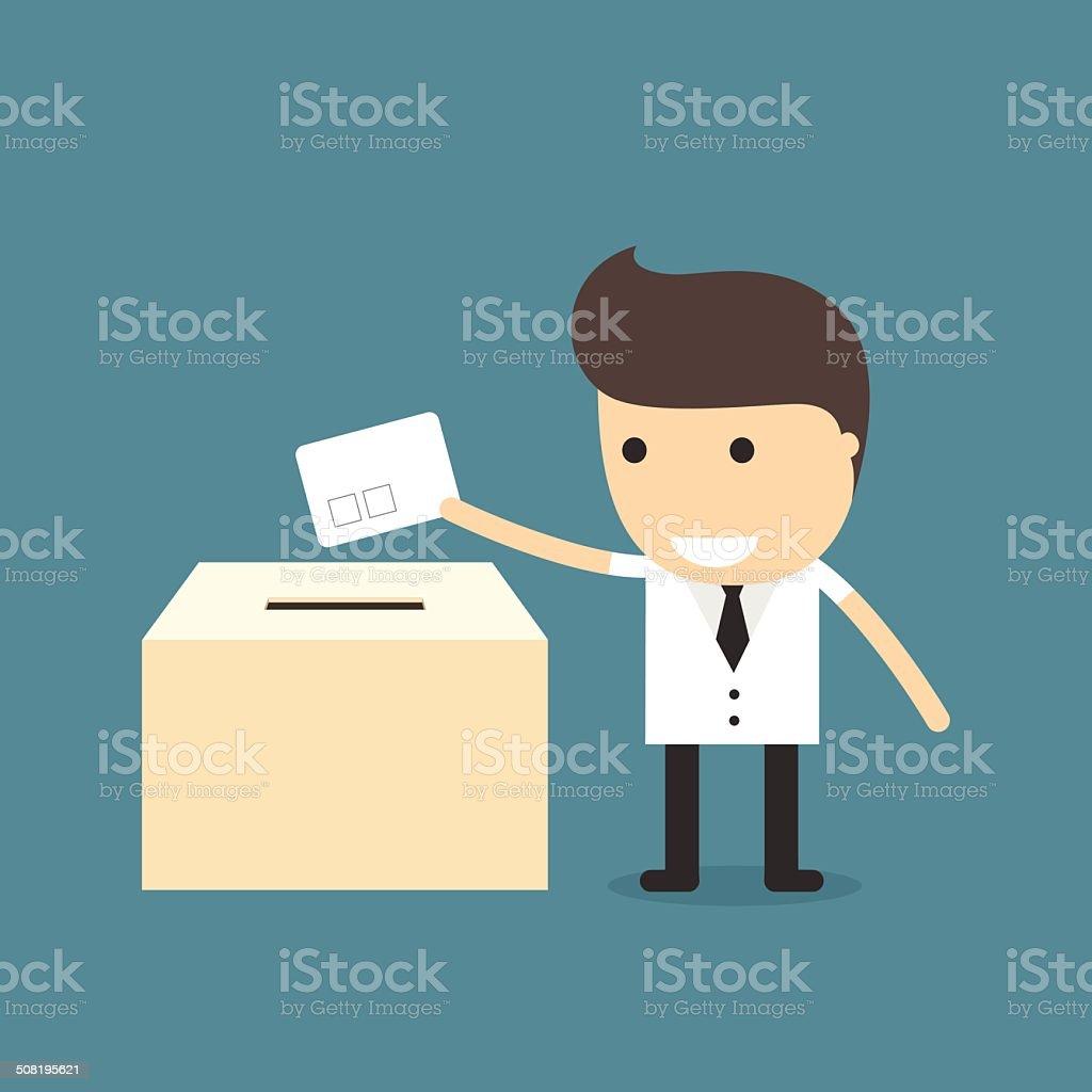投票の男性 のイラスト素材 508195621 | istock