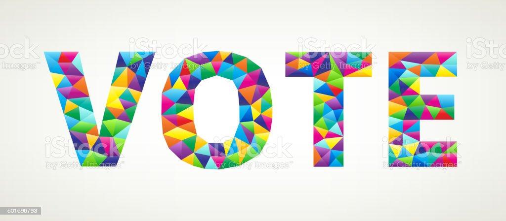 Vote on triangular pattern mosaic royalty free vector art royalty-free stock vector art
