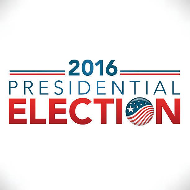 2016 проведения президентских выборов с pin» или эмблема - presidential debate stock illustrations