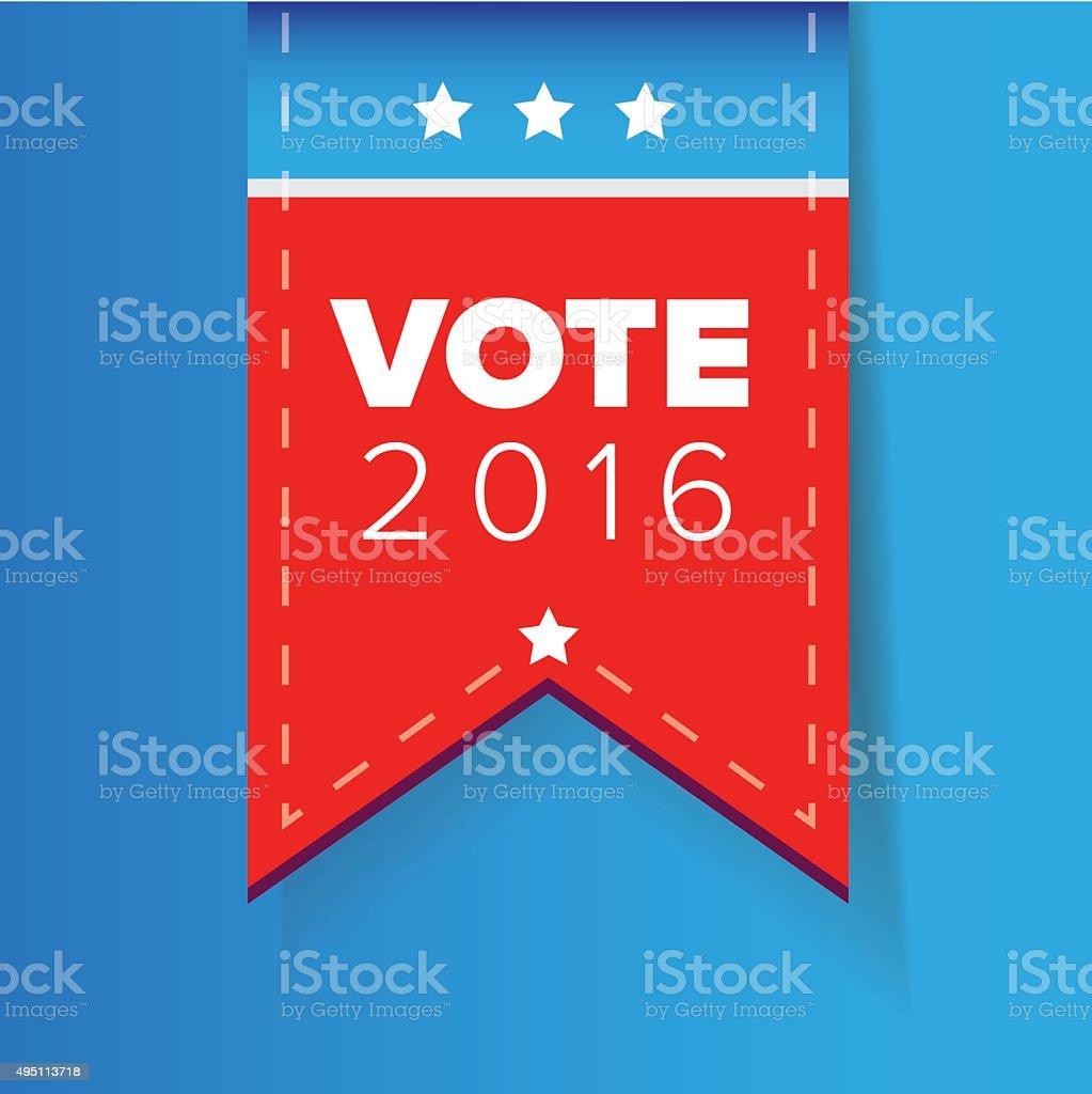 US Vote ribbon vector vector art illustration