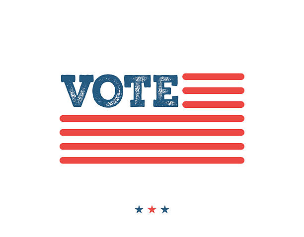 vote. typographic illustration about the importance of voting - election stock illustrations