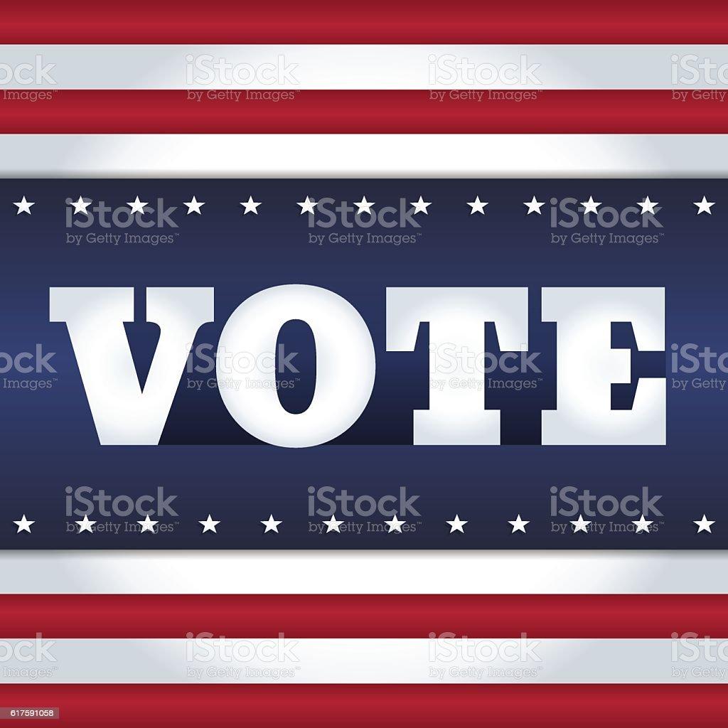 vote USA card vector art illustration