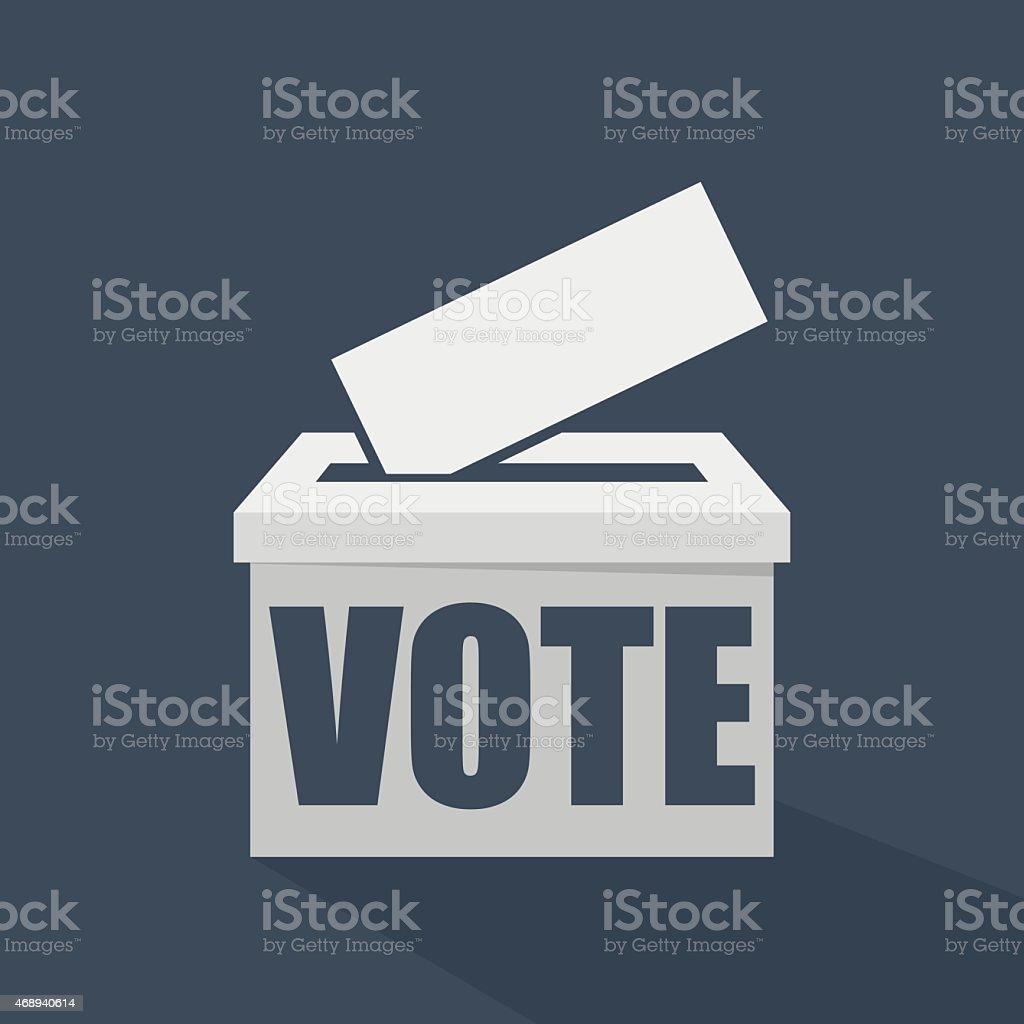 Vote written on a white voting ballot box vector art illustration