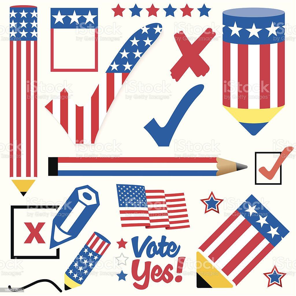Vote Yes for USA! vector art illustration