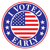 istock I Voted Early Label 1280956263