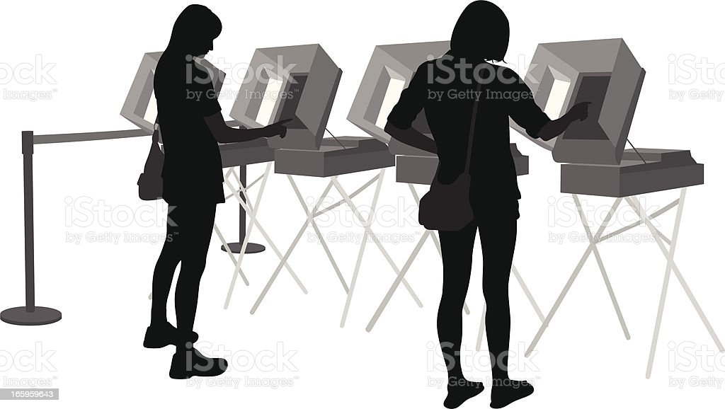 Voters Vector Silhouette royalty-free stock vector art