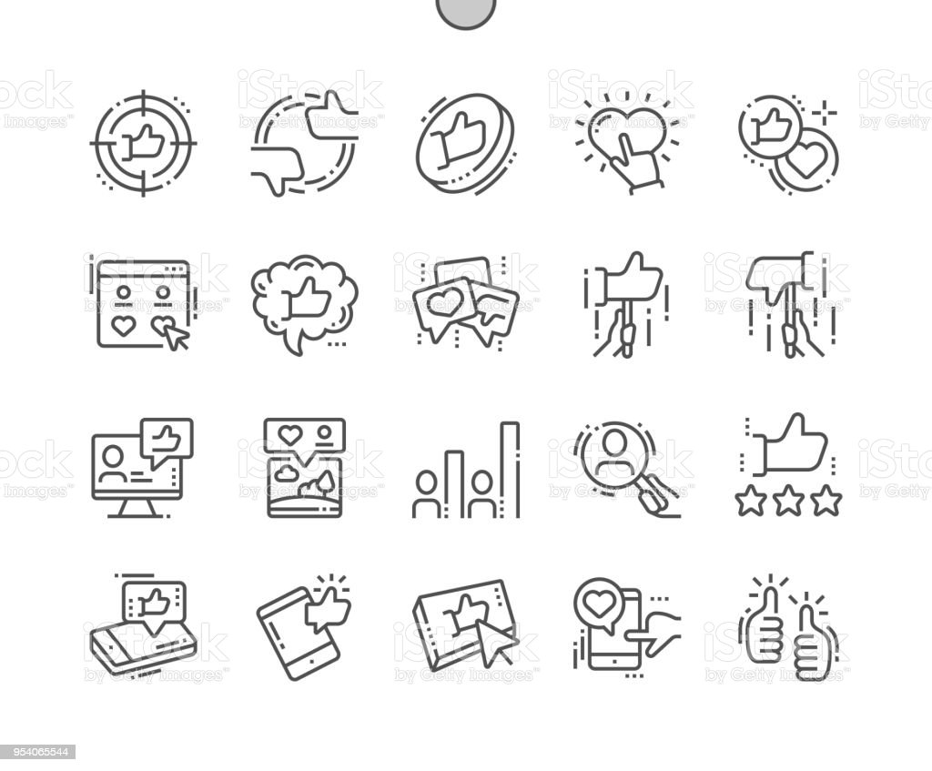 Votes Well-crafted Pixel Perfect Vector Thin Line Icons 30 2x Grid for Web Graphics and Apps. Simple Minimal Pictogram vector art illustration