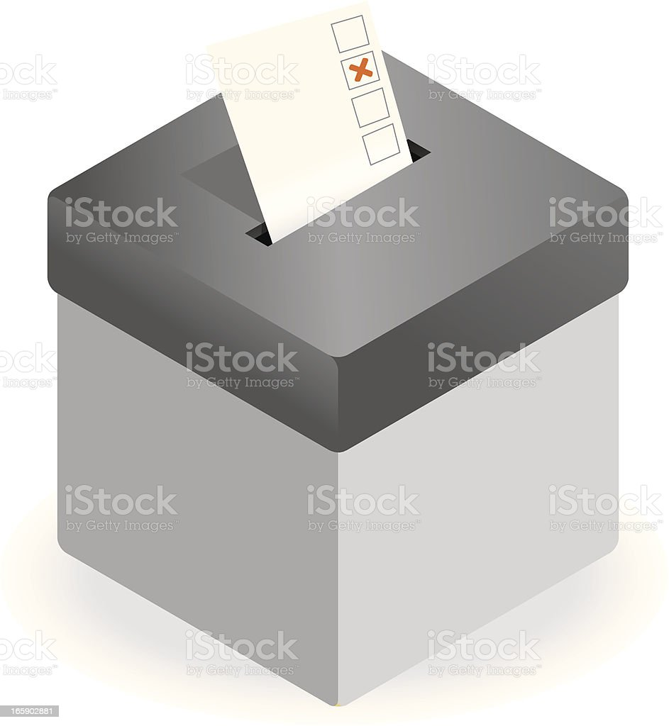 Voting ballot box with copy space royalty-free stock vector art