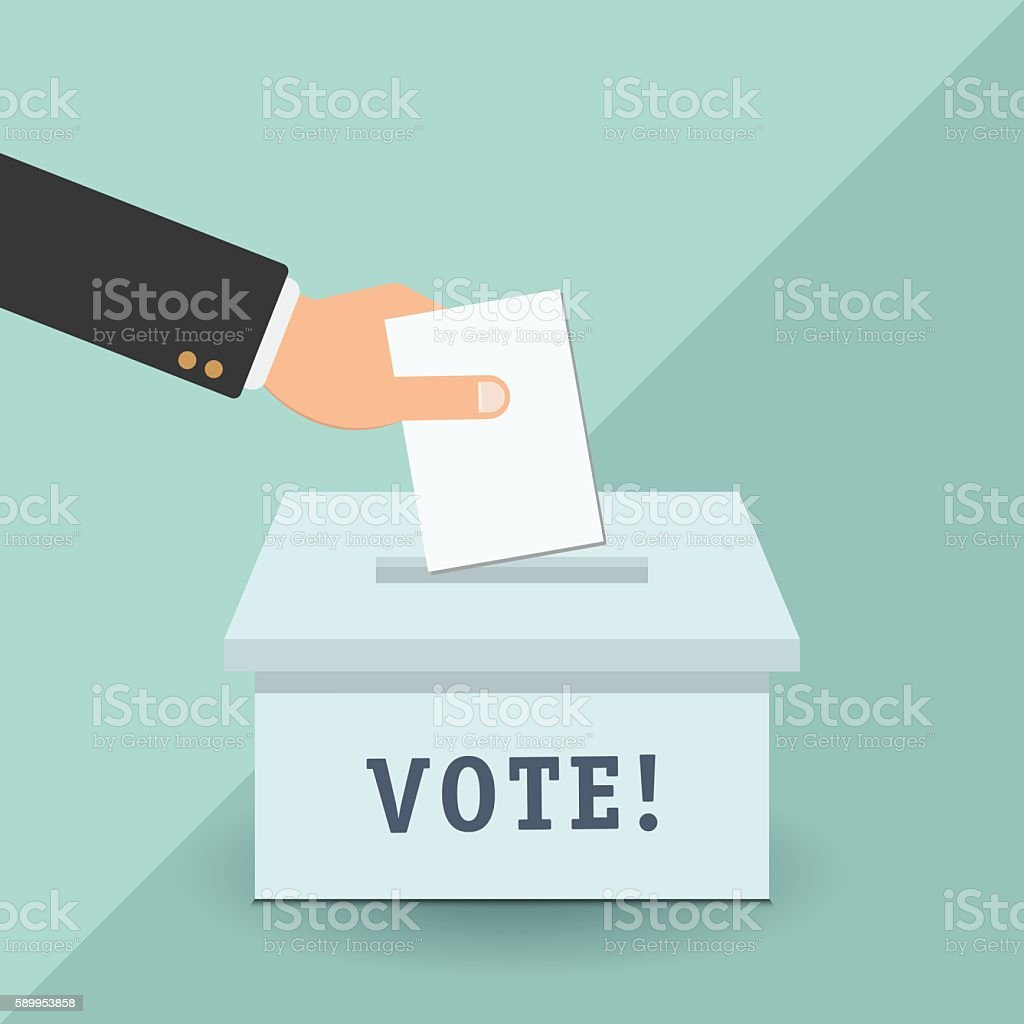 Voting concept in flat style vector art illustration