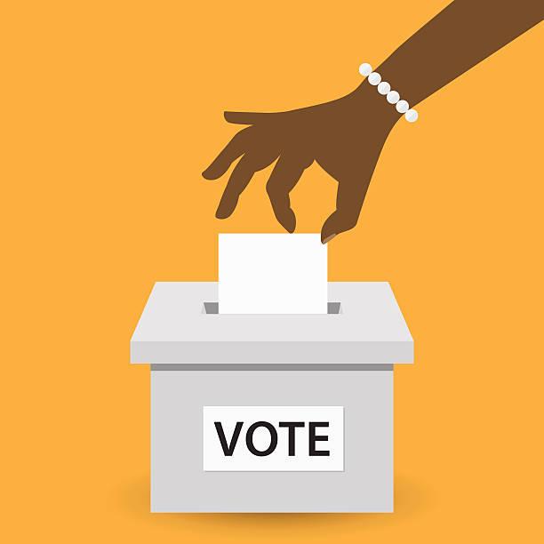 Voting concept vector art illustration