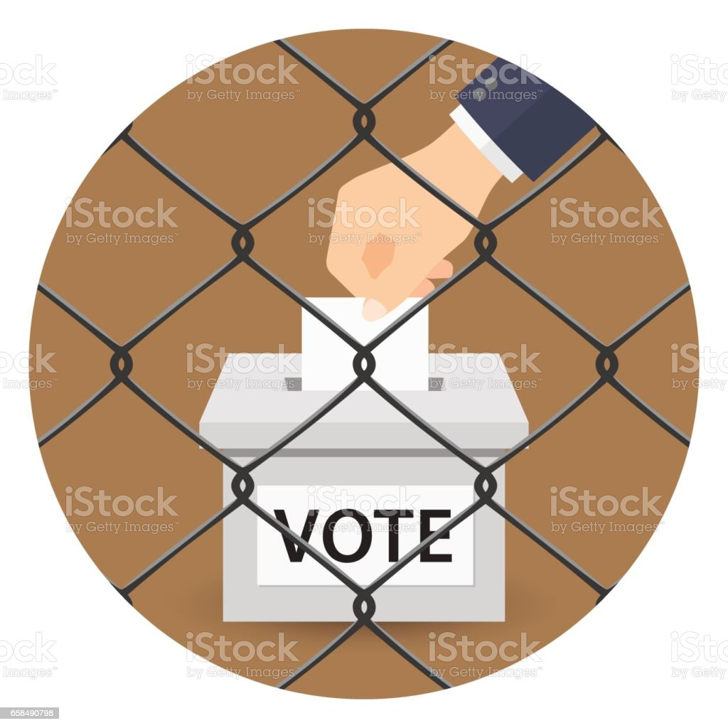 Voting concept vector art illustration