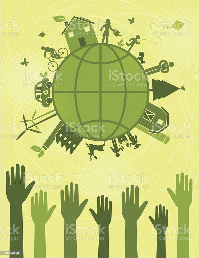 Voting for a Greener World royalty-free stock vector art
