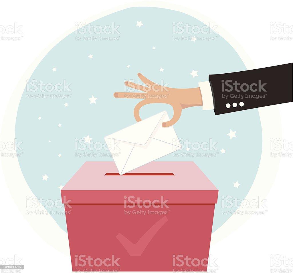 Voting Hand royalty-free stock vector art