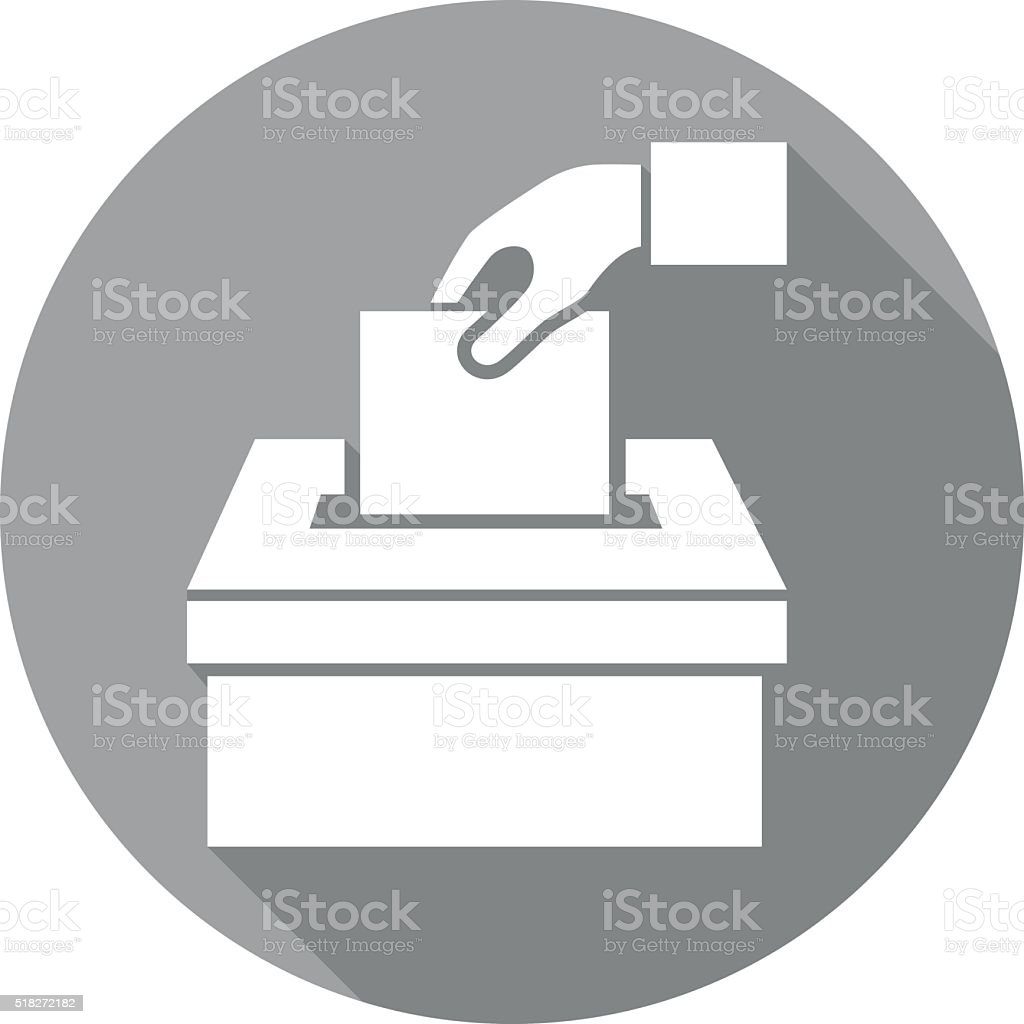 voting icon vector art illustration
