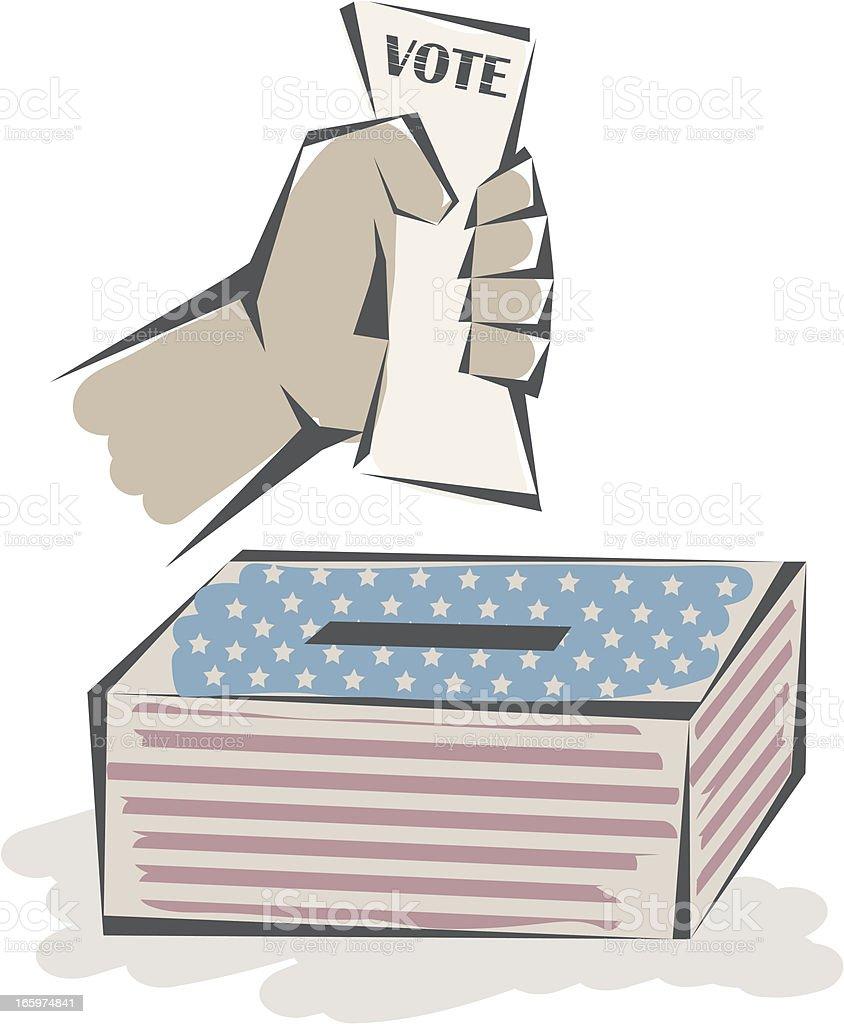 Voting royalty-free stock vector art
