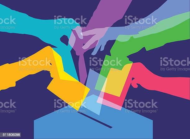 Votazione - Immagini vettoriali stock e altre immagini di Cabina elettorale