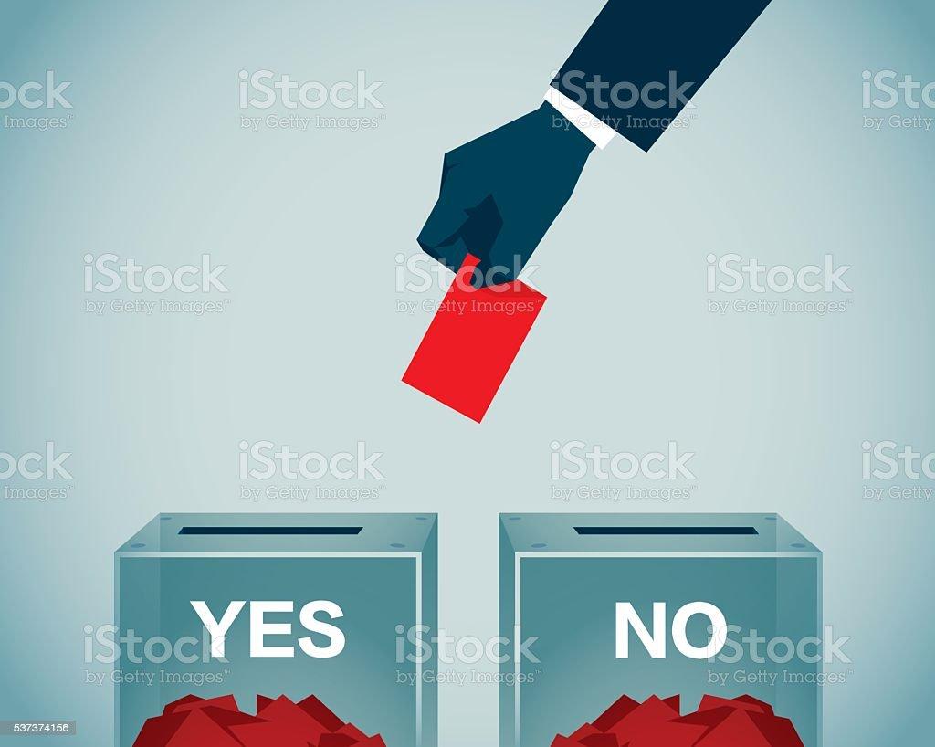 Voting vector art illustration