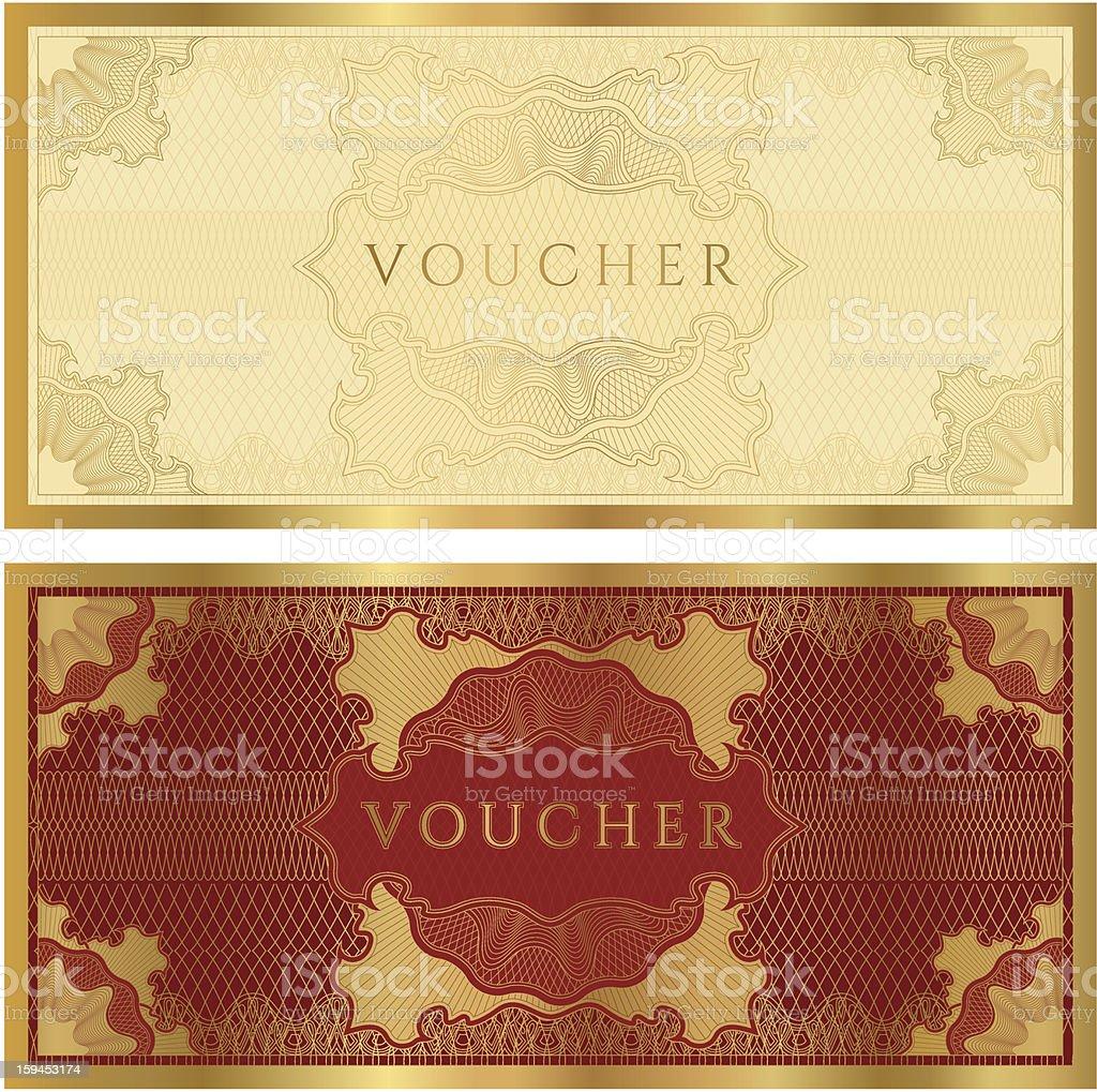 Voucher Coupon Gift Certificate Template Stock Vector Art & More ...