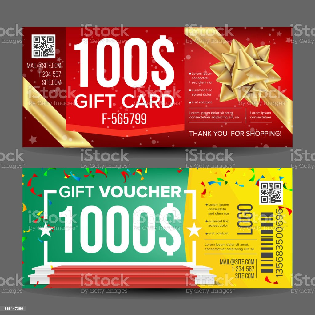 Voucher coupon template vector design concept for invitation voucher coupon template vector design concept for invitation certificate flyer ticket yadclub Gallery