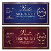 Voucher, Gift certificate, Coupon, Gift money bonus, ticket template