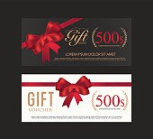 Voucher, Gift certificate, Coupon template..