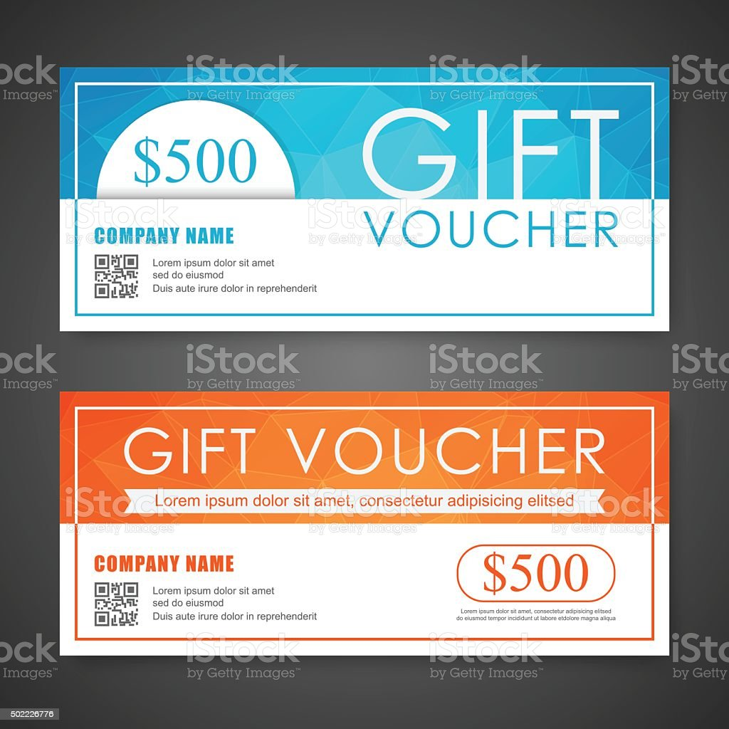 Voucher Gift Certificate Coupon Template Stock Vector Art More