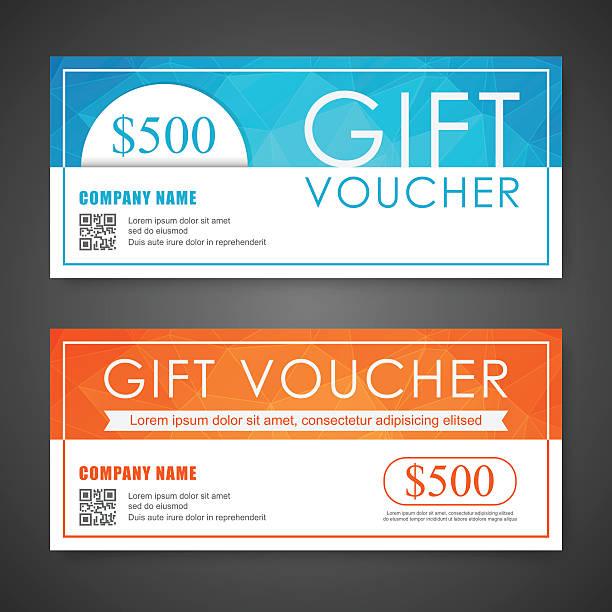 illustrazioni stock, clip art, cartoni animati e icone di tendenza di buono, buono regalo, coupon modello. - coupon