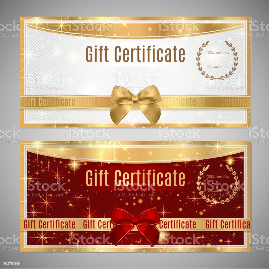 Bons et chèques-cadeaux, Coupon template. - Illustration vectorielle