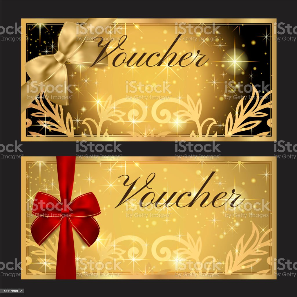 Voucher Gift Certificate Coupon Template Stock Illustration   Download  Image Now