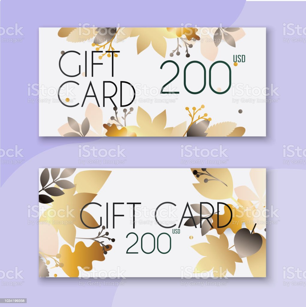 Voucher Template With Color Gift Boxcertificate Background Design