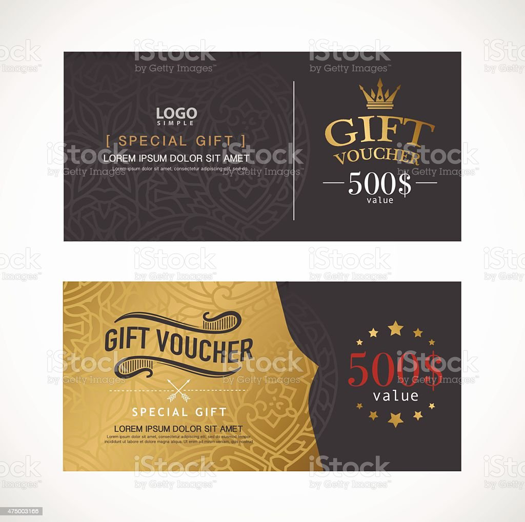 Voucher template with premium modern design template. vector vector art illustration