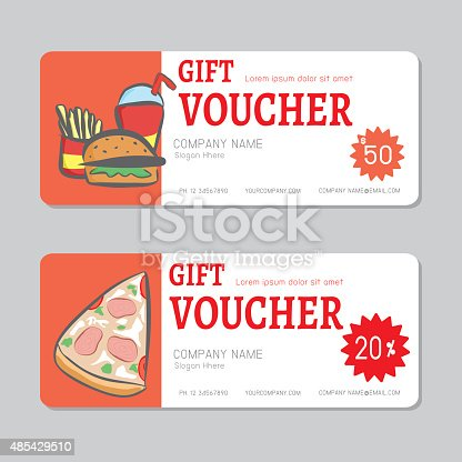 Voucher Template With Premium Pattern Stock Vector Art & More Images ...