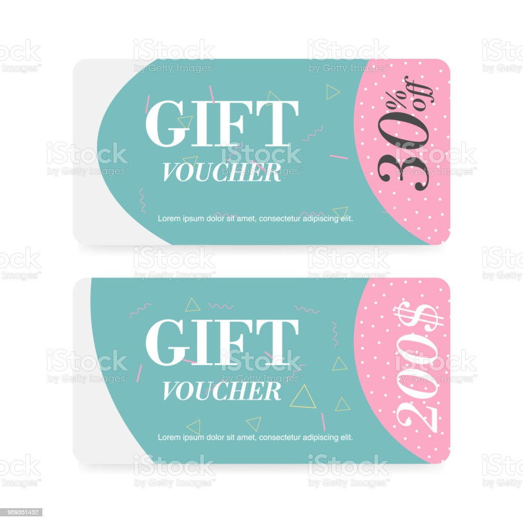 voucher template with your business designcertificate background for