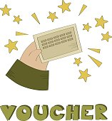 Voucher vector illustration