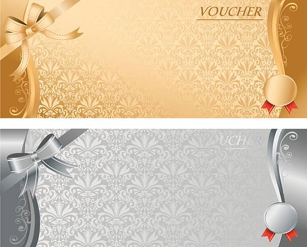 voucher Vector voucher Vector banking borders stock illustrations