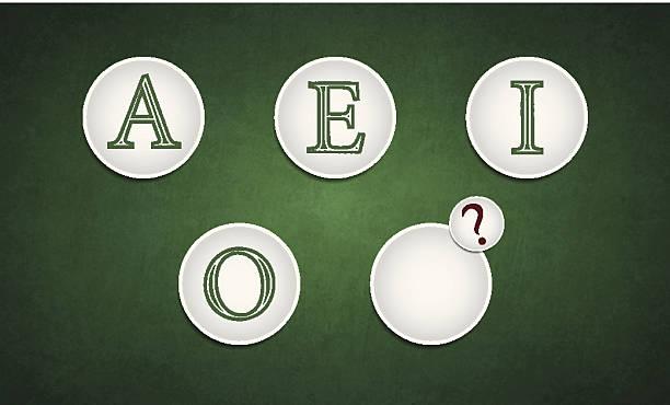 illustrations, cliparts, dessins animés et icônes de vowels série-écrire le vowel manquant - enseignant(e) en maternelle