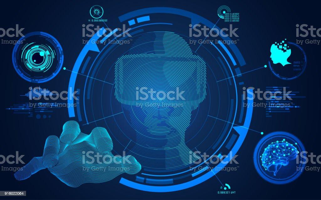 vr man vector art illustration