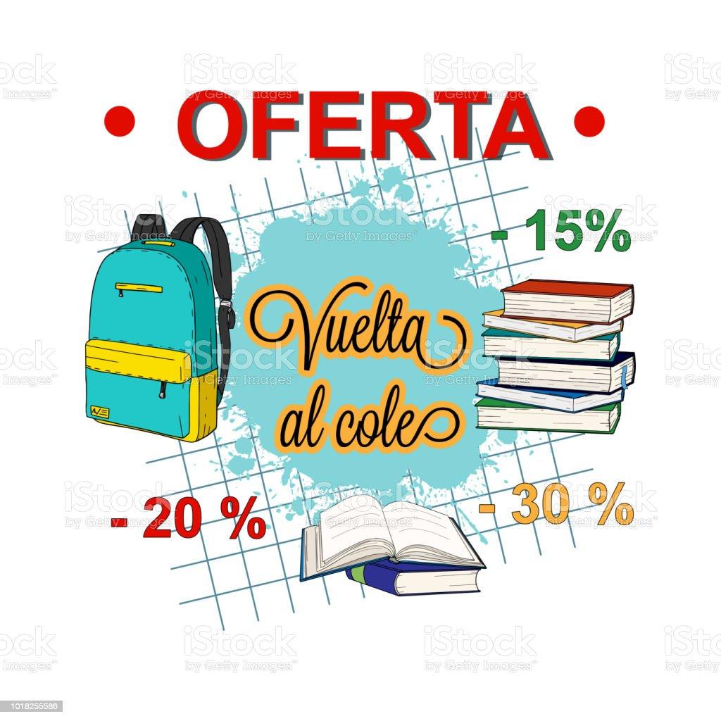 Ilustración de Vuelta Al Cole Oferta Vuelta Al Cole Venta En Español ...