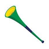 Vuvuzela trumpet icon, cartoon style